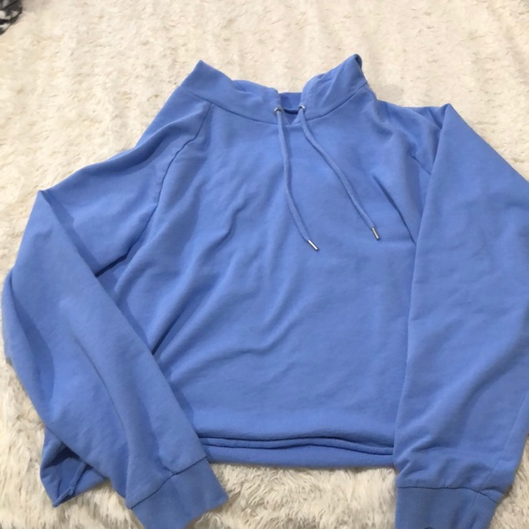 wild fable Tops - Blue Cropped Hoodie